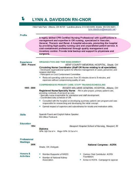 Nursing Resume Objective Statement nursing resume new grad happytom co