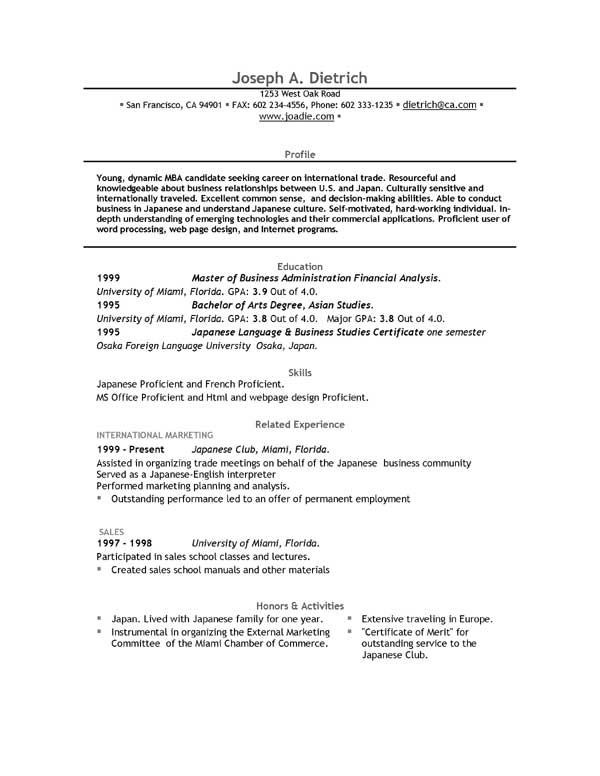 Write and download free resume