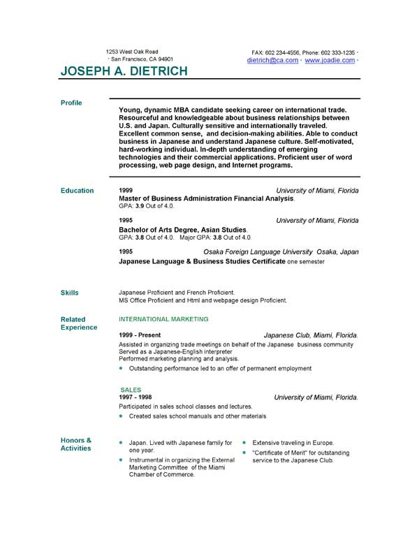 85 free resume templates free resume template downloads