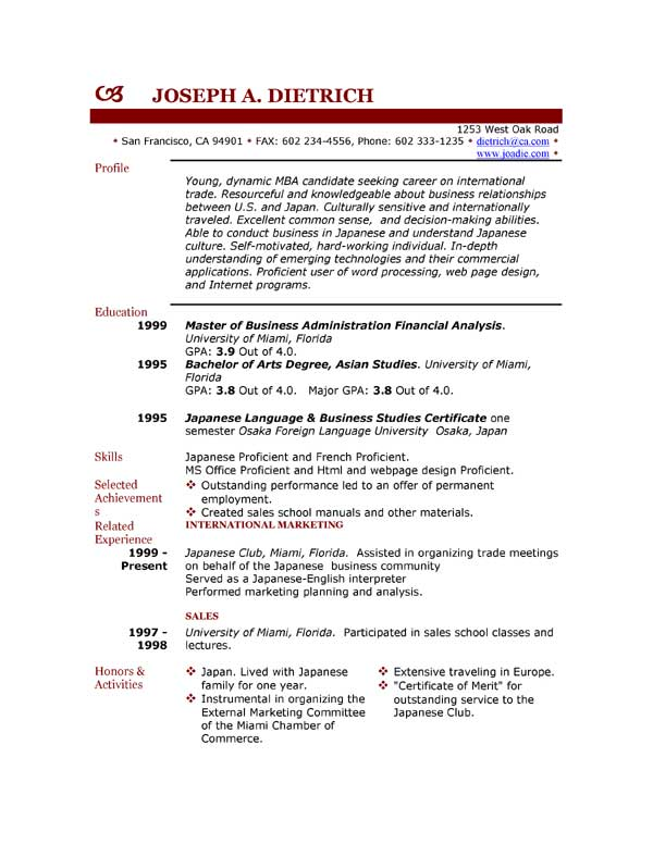 Student CV Templates Download for Free