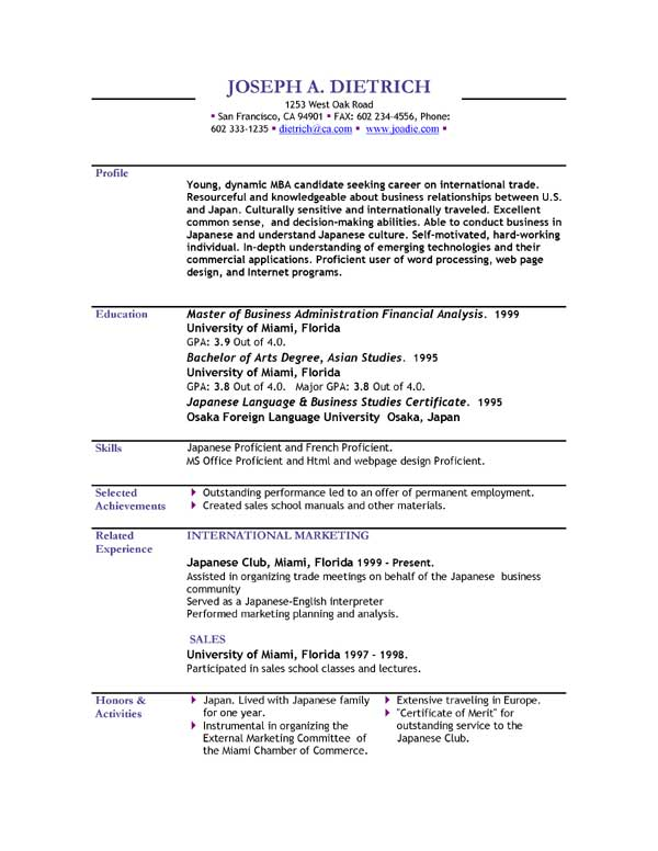 Sample Resumes Download  BesikEightyCo