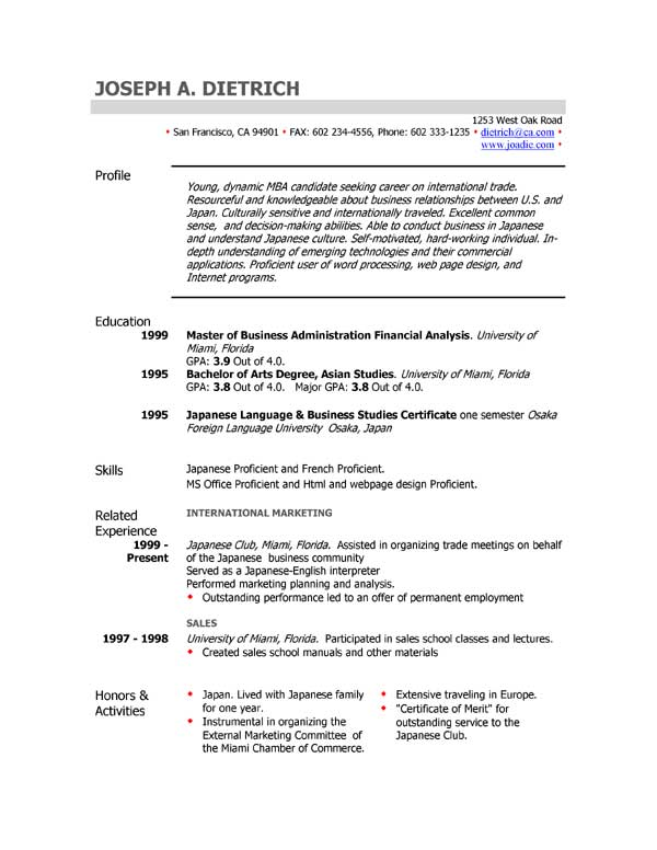 Example Resume Uk  BesikEightyCo