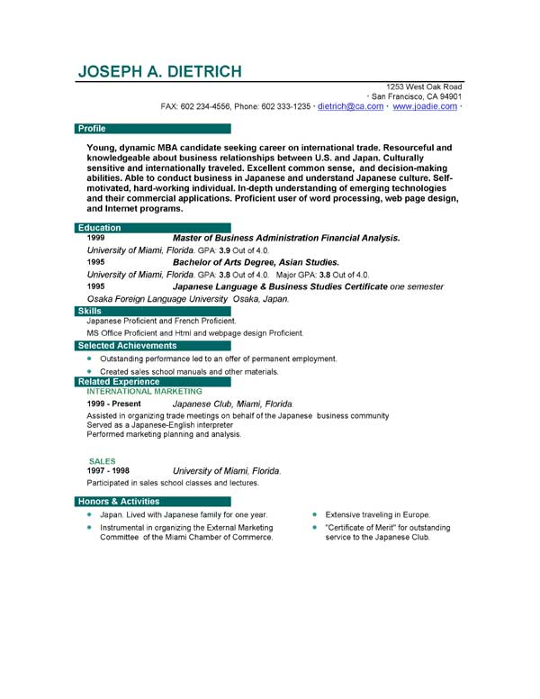 download job resume - Job Resume