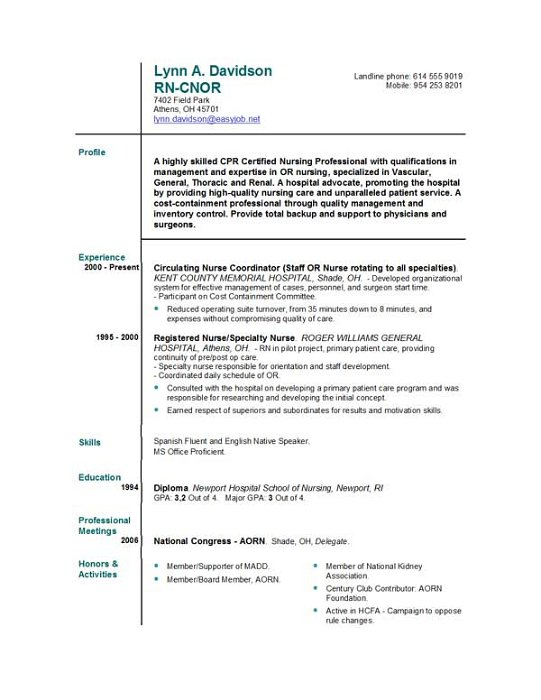 Objective Nursing Resume Grad Graduate Registered Nurse Examples ...