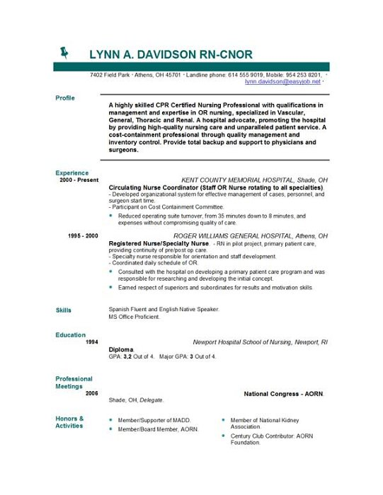 New Grad Rn Resume Examples - Template