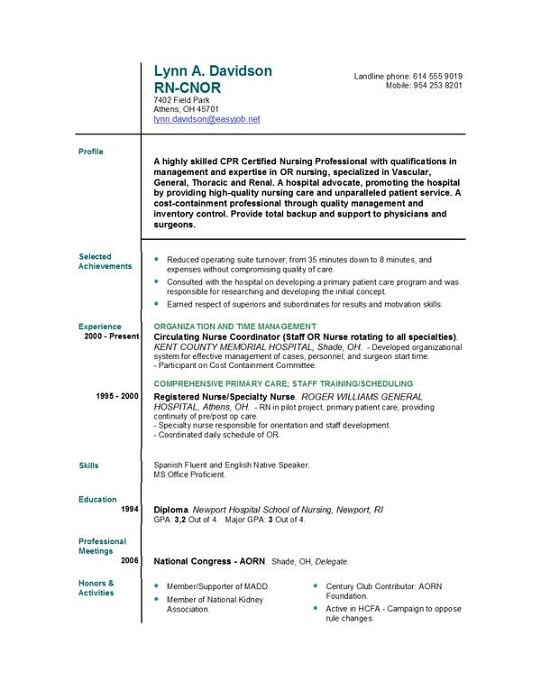 Nursing Resume Builder] Nursing Resume Nurse Sample Student Nurse