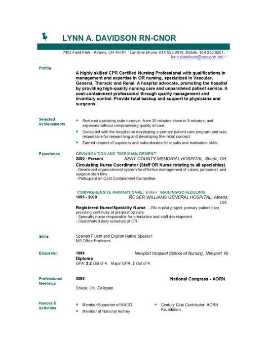 28 Nursing Resume Templates Australia
