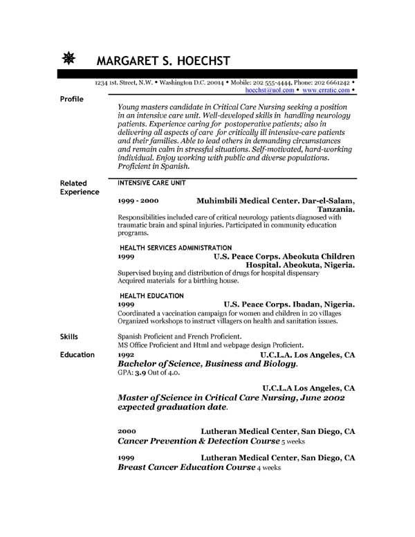 Sample Job Resume  Sample Resume And Free Resume Templates