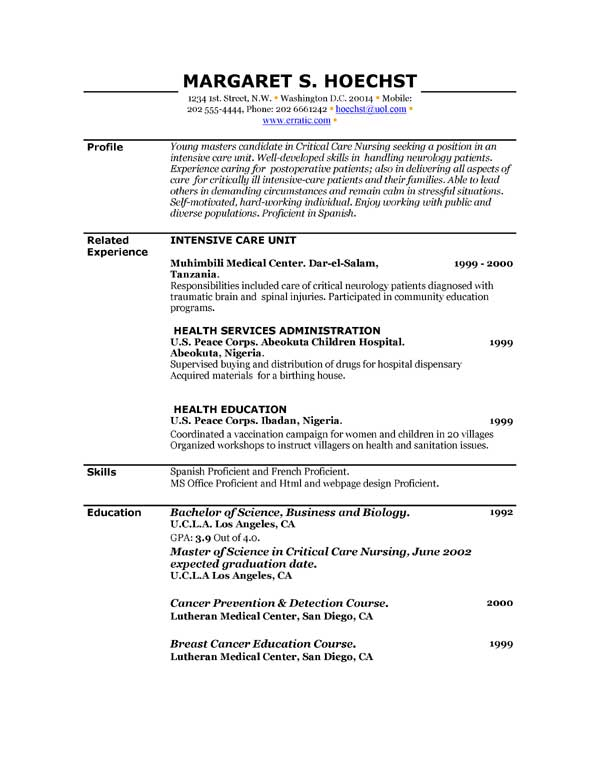 examples-of-resume