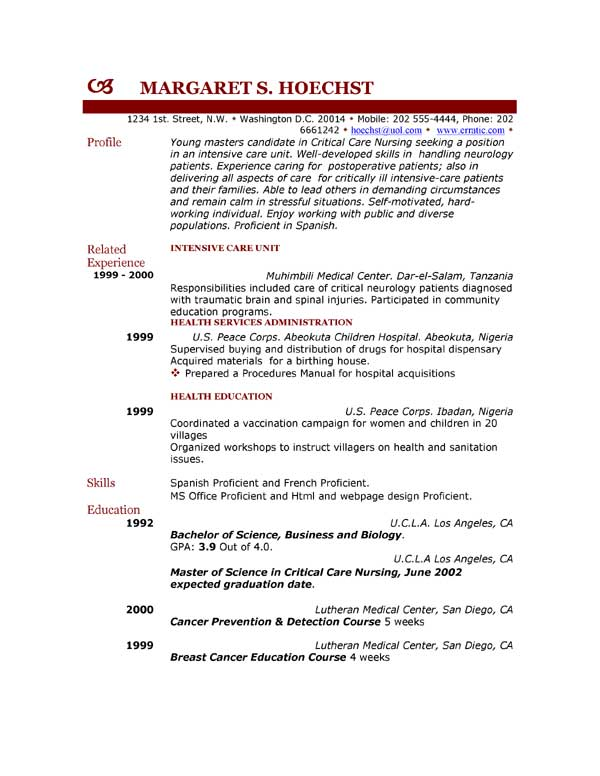 profile examples for resumes a res career a resume career profile ...