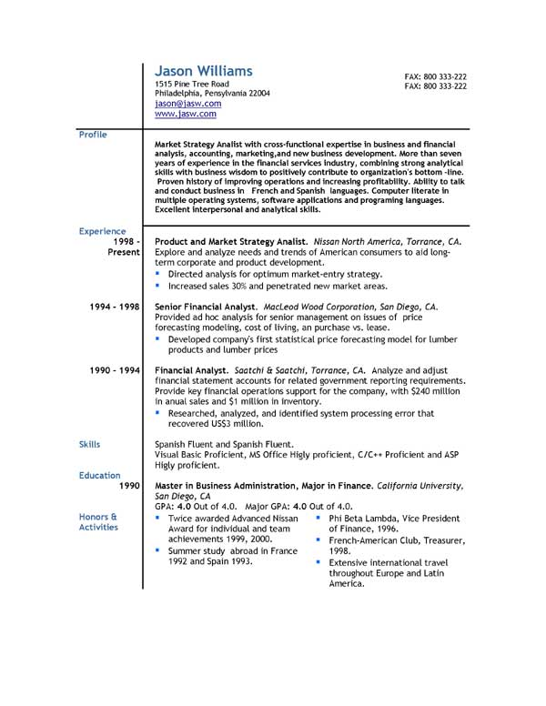 Resumes Online Samples - Gse.Bookbinder.Co