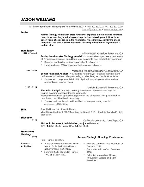 Examples Of Good Resume  WowcircleTk