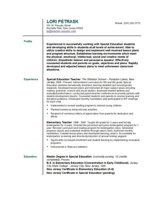 resume objective examples when changing careers