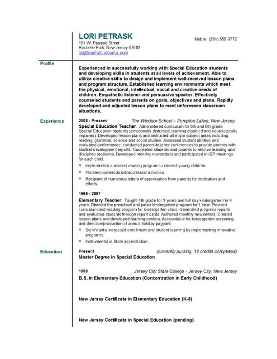 Resume Profile Examples For Students - Gse.Bookbinder.Co